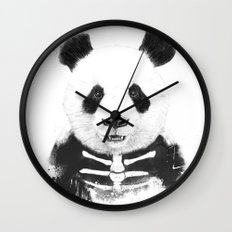 Zombie panda Wall Clock