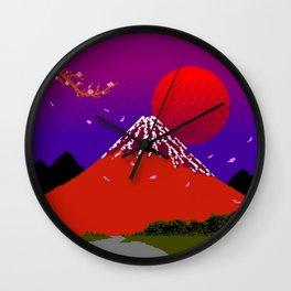 Dreams on Cherry Blossom Street Wall Clock