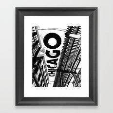 Cities in Black - Chicago Framed Art Print
