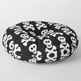 Skull and Cross Bones Floor Pillow