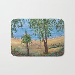 Heading to The Beach 2, Impressionism tropical beach art Bath Mat
