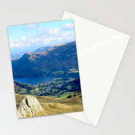 Mountains, Valleys and River during a hike in England Stationery Cards