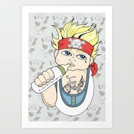 Tattooed Baby 004 Art Print