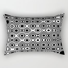 Asymmetry collection: abstract black and white circles Rectangular Pillow