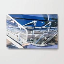 Blue car detail Metal Print