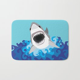 Great White Shark Attack Bath Mat
