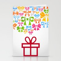 gift card Stationery Cards featuring Gift by aleksander1