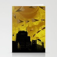 airplanes Stationery Cards featuring airplanes and cigarettes by Trevor Bittinger