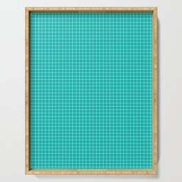 Grid (White/Eggshell Blue) Serving Tray