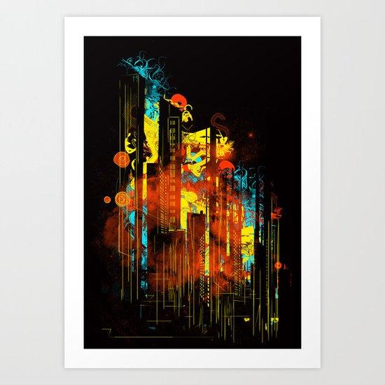 technicity lights Art Print
