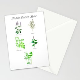 Middle Eastern Herbs Stationery Cards
