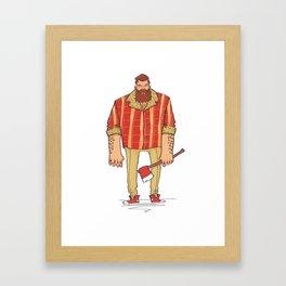 The Woodchop Framed Art Print