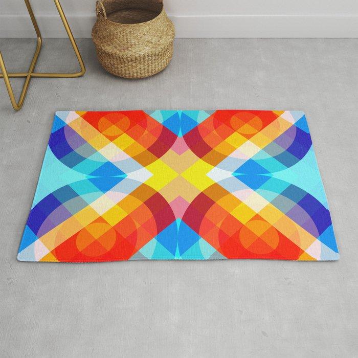 Busama - Colorful Abstract Art Rug