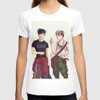 haikyuu T-shirts featuring Kuroo and Bokuto by Anyeka