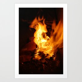 paper on fire and burn Art Print