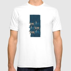 Journey 02 White SMALL Mens Fitted Tee