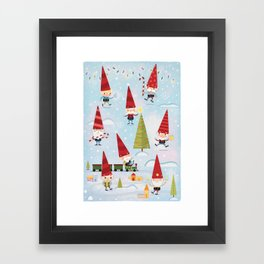 Christmas Gnomes! Framed Art Print