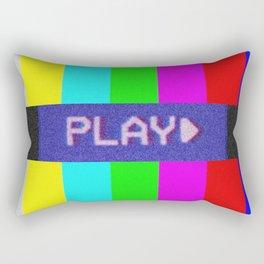 P L A Y *BEEP* Rectangular Pillow