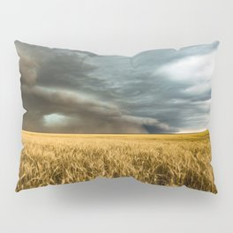 Earth Mover - Storm Advances Across Great Plains in Colorado Pillow Sham