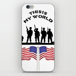 US Army this is my world iPhone Skin