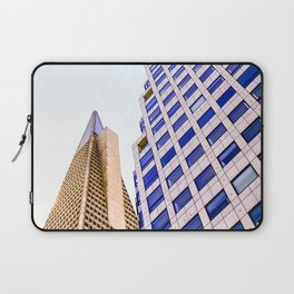 pyramid building and modern building at San Francisco, USA Laptop Sleeve