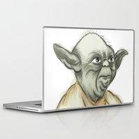 yoda Laptop & iPad Skins featuring YODA by carotoki art and love