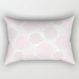 Blush pink brown modern pastel color floral pattern Rectangular Pillow
