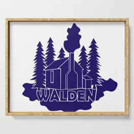 Walden - Henry David Thoreau (Blue version) Serving Tray