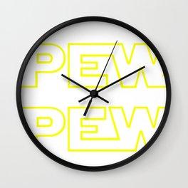 Star Pew Pew Wall Clock