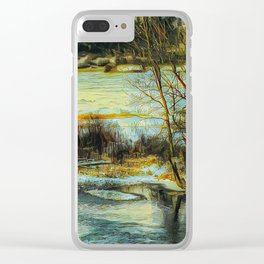 Down By The Waters Edge - Graphic 3 Clear iPhone Case