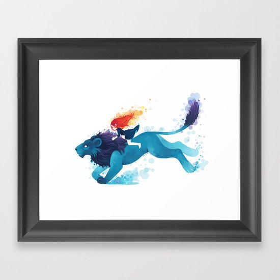 Lion Rider Framed Art Print
