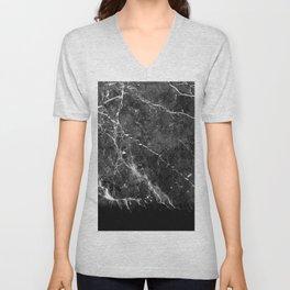 Black Gray Marble #1 #decor #art #society6 Unisex V-Neck