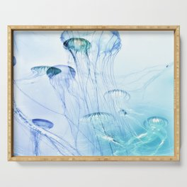Jellyfish Double Exposure Serving Tray