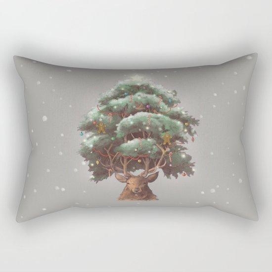 Reindeer Tree Rectangular Pillow