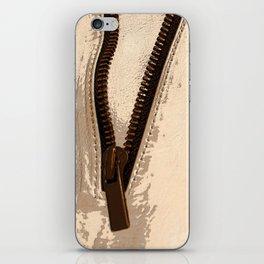 Copper Zipper Photo Image iPhone Skin