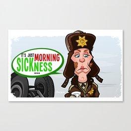 Morning Sickness Canvas Print
