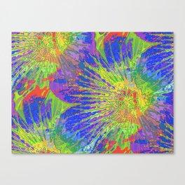 Psychedelic Geraniums Canvas Print