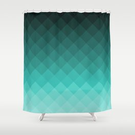 Ombre squares Shower Curtain