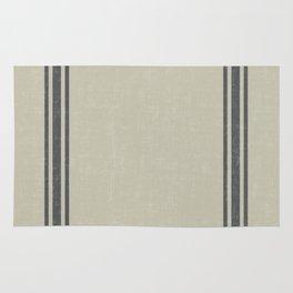 Grey on Linen King sham Rug