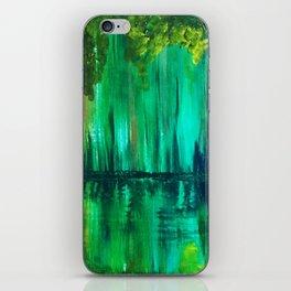 Green reflection iPhone Skin