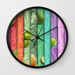 Limes and Grapefruit Wall Clock