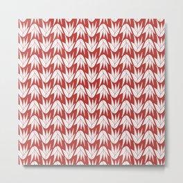 aloe vera white on brick Metal Print