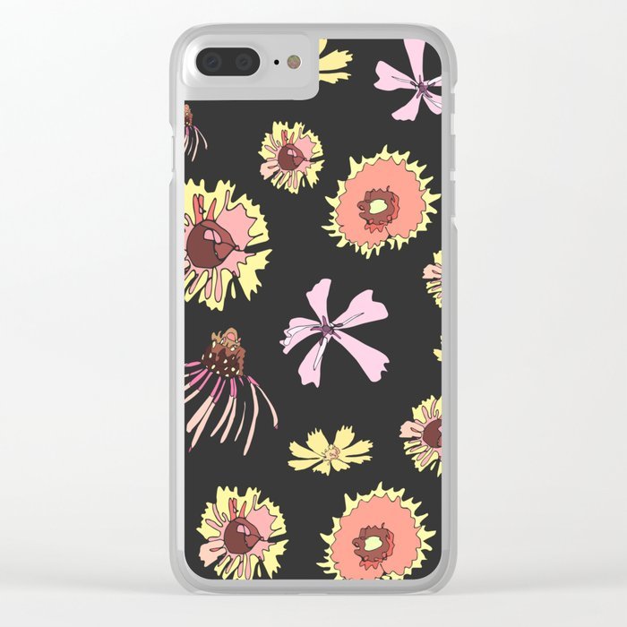 new concept ee585 5f3f4 Wildflower Pattern Clear iPhone Case by shannonfrazee