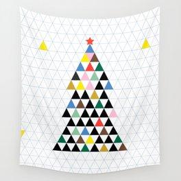 Geometric Christmas Tree Wall Tapestry