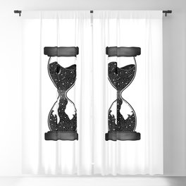 Galaxy Space Celestial Hourglass Blackout Curtain