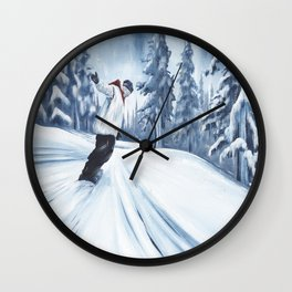 Dropping The Dream Forest Wall Clock