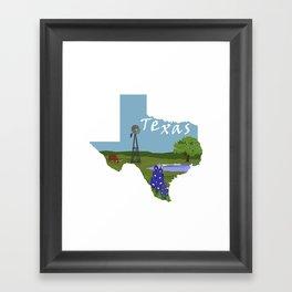 Texas: Blue Bonnet Framed Art Print