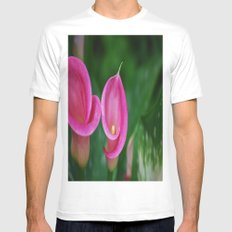 Calla Lily Mens Fitted Tee MEDIUM White
