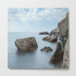 Minimalist misty landscape. Metal Print