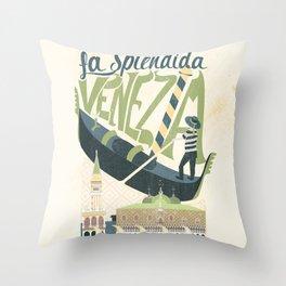 La Splendida Venezia Throw Pillow